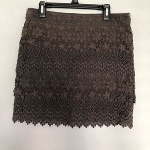 American Eagle gray lace mini pencil skirt